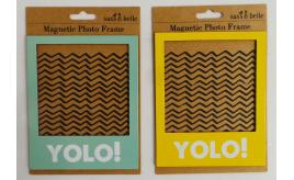 Wholesale Joblot of 192 Sass & Belle Magnetic Photo Frame YOLO! 2 Colours