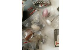 Collection of 36x Door/Cabinet knobs and hooks by John Lewis