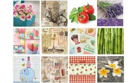 Luxury Vintage Decorative Paper Napkins Tableware Decoupage Occasion mix of 30 packs