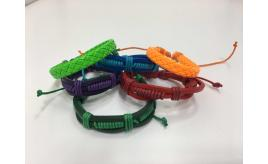Wholesale Lot of 50 Bright Colourful Leather Bracelets, Mens & Womens