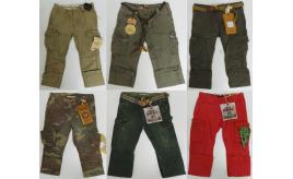 Wholesale Joblot of 5 Scotch Shrunk Assorted Boys Cargo Trousers 6-9 Years
