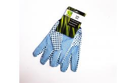 Wholesale Pack of 12 Westwoods One Size Light Use Gardening Gloves Blue & White Check Design