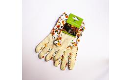 Wholesale Pack of 12 Westwoods One Size Light Use Gardening Gloves Orange & Yellow Floral Design