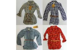 One Off Joblot of 5 Scotch R'Belle Tunic Shirts With Belt 5 Styles 6-9 Years