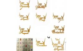 Playboy Miss Month Gold Plated Necklaces including Diamonds Rubys Garnets etc.