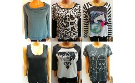Wholesale Joblot of 10 Amy Gee Ladies T-Shirts Assorted Styles