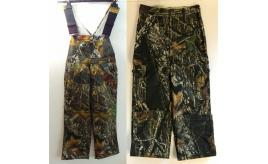 One Off Joblot of 3 Russell Outdoor Youth Boys Dungarees & 1 Trousers