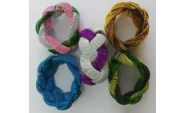 Wholesale Lot 100 Chunky Metal Plaited Bracelets In Mixed Colours