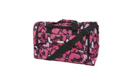 Hi-Tec Ladies Floral Heart Design Black HOLDALL GYM TRAVEL BAG