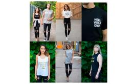 High Vibe Casual Clothing for Men and Women for yoga, gym, leisurewear - 100% Cotton Ethical Clothing