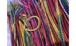Wholesale Joblot Of Round And Flat Cord Rainbow Twist Bracelets/Anklets