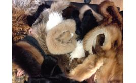 Job Lot of 25 Real Fur Timmings and offcuts: Sku; Bag 5