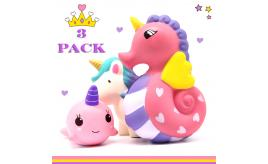 Unicorns Squishies Pack x 3 Slow Rising Squishies