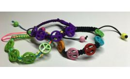 Wholesale Joblot Of 50 Peace Bracelets In 5 Colour Variations