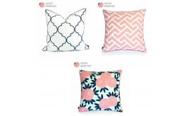 "Wholesale Joblot of 20 Hofdeco Decorative Pillow Cover 3 Styles 18""x18""/20""x20"""