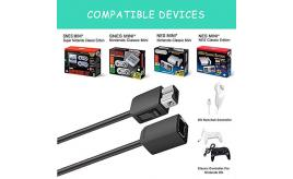 Wholesale Joblot of 20 Extension Cable for Nintendo Games Controllers 3M (2Pack)