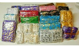 Wholesale Joblot Of 10 Sets Of 100 Organza Gift Bags Hearts, Stars & Butterflies Mixed Colours