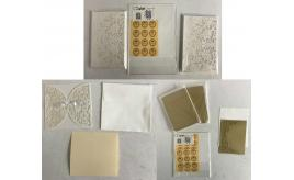 One Off Joblot of 44 Packs of Invitation Cards White & Gold - (12-100 Packs)