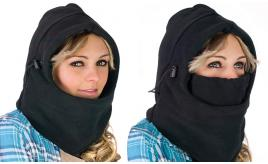 120pcs (Black) Warm winter hat thermal hat. 6in1. ideal for sports. Skiing or cycling