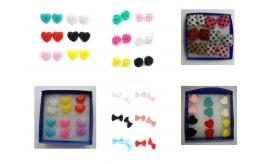 Wholelsale Joblot Of 20 Multi-packs Of Six Pairs Of Cute Quirky Earrings