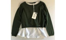 One Off Joblot of 7 Liu Jo Junior Girls Green Knit Jumper with Vest Top