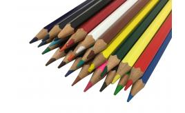 Colouring Pencil - 24 Assorted Colours Sharpened Long-Lasting Coloured Pencils Ideal for Drawing, Writing and Sketching by Arpan (ST-9670)