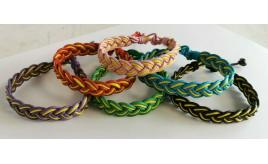 Wholesale Joblot Of 50 Waxed Cord Braided Bracelets Mixed Colours In Packaging