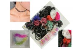 Wholesale Joblot Of 1000 Elasticated Choker Necklaces And Some Bracelets
