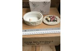 SUPERB JOB LOT OPPORTUNITY OF FLOWER THEMED HAND PAINTED RESIN TRINKET BOXES AND PHOTO FRAMES