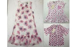 One Off Joblot of 4 Armani Junior Girls Floral Summer Dresses/Top Sizes 2-8