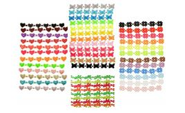 Wholesale Lot of 100 Embroidered Lace Bracelets/Anklets Butterflies, Starfish, Hearts & Flowers