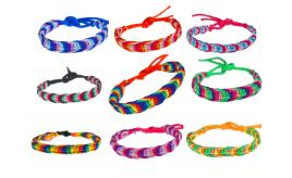 Wholesale Joblot Of 100 Rainbow Friendship Fish Knot Wrap Bracelets