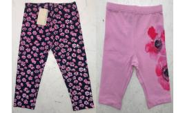 One Off Joblot of 6 Armani Girls Floral Print Trousers in 2 Styles Mixed Sizes