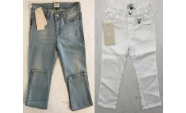 One Off Joblot of 6 Armani Girls Jeans in Blue & White Mixed Sizes