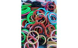 Wholesale Joblot Of 50 Metal Slinky Style Coil Bracelets Mixed Colours