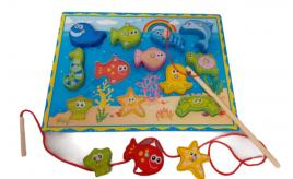 fishing fun magnetic fun toy with two sticks x10