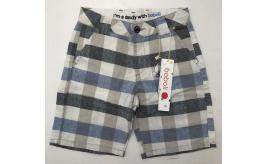 One Off Joblot of 9 Boboli Boys Linen Blend Check Bermuda Shorts 735274