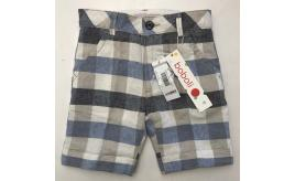 One Off Joblot of 14 Boboli Boys Linen Blend Multi-Check Shorts Sizes 6m-4