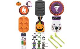 Mixed Box Of Wilton Baking Halloween Themed Items Baking Cups, Cookie Cutters, Molds and more