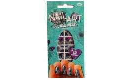 One Off Joblot of 125 NPW Nail Art Gel Nail Wraps Peacock (12 Wraps in Each)