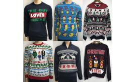 Wholesale Joblot of 20 Mens Ex-Chain Store Christmas Jumpers - Mixed Styles