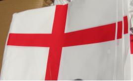 100 packs of 10m St.George bunting. `England'