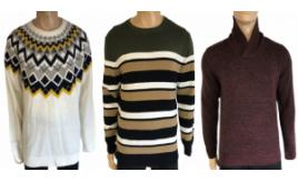 Wholesale Joblot of 20 Mens Ex-Chain Store Jumpers - Mixed Styles