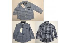 One Off Joblot of 11 Hugo Boss Boys Blue Check Smart Shirts in 4 Styles