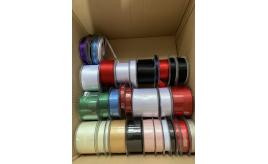 Huge Joblot of Ribbon Reels - Whole reels and part reels, ready to sell - satin, grosgrain, lame, velvet & more