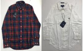 One Off Joblot of 5 Gant Boys Shirts in 2 Styles - Twill & Oxford - Various Size