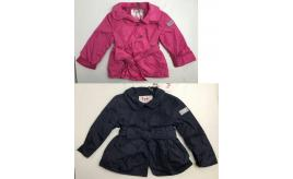 One Off Joblot of 4 IL Gufo Girls Coats with Bow-Tie at Waist Navy & Pink