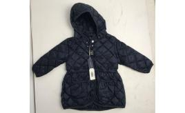 One Off Joblot of 3 Add Baby Girls Navy Quilted Jackets Removable Hood 6m-18m