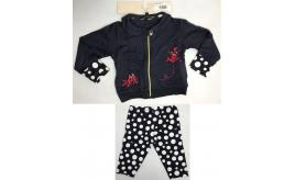 One Off Joblot of 4 Armani Baby Navy Frog Zip-Up Top & Spot Leggings Set