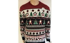 Wholesale Joblot of 10 Mens Rocking Around Light-Up Christmas Jumpers